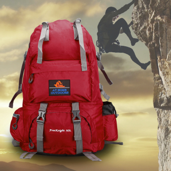 Free Knight 50L Large Outdoor Sport Backpack (Red) - intl Price Philippines