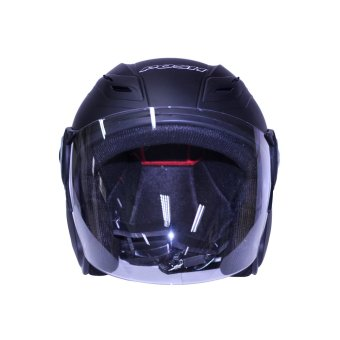 Harga Posh Open Face Titan 4 Motorcycle Helmet (Matte/Frosted Black)