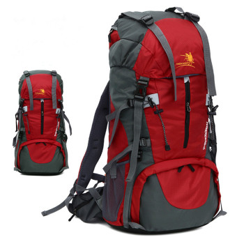 Free Knight 60L Outdoor Backpack for Hiking & Camping Hiking Backpacks(Red) Price Philippines
