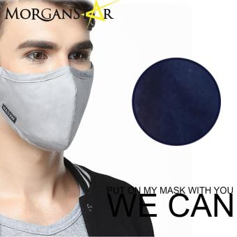 Wecan 2.5 pm dustproof plain cotton face masks with activated carbon (Male) (Navy Blue) Price Philippines