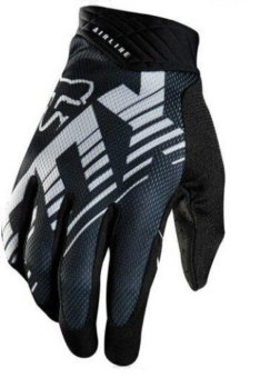 Harga Fortress Motorcycle /Bike Cycling Full Finger Gloves (White/Black)