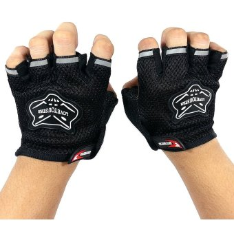 Ultra Sport Hiker Cyclist Hand Gloves Half Coverage (Black) Price Philippines