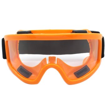 Harga Motor Craze Sport Motocross Motorcycle Goggles Safety Glass (Orange)