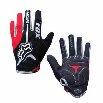 Harga Fortress Motorcycle /Bike Cycling Full Finger Gloves (Black/Red)
