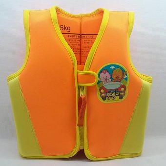 Harga EBS Korean Swimming Vest/Life Jacket Water Sports For Kids (Yellow Orange) 15kg