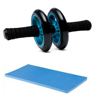 Abdominal Wheel Gym Exercise Roller with Extra Thick Knee Pad Mat-for Best Abs Workout-perfect Fitness Equipment Price Philippines