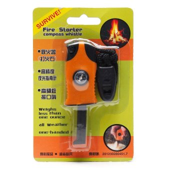 Harga Fire Starter with Compass and Whistle (Black/Orange)