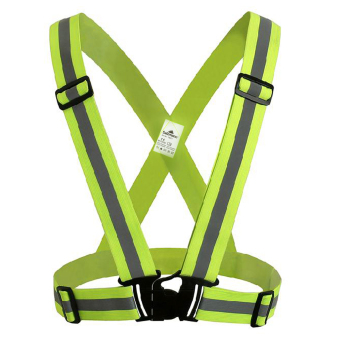 Salzmann Cycling Elastic Reflective Safety Harness Belt Vest - Yellow - intl Price Philippines
