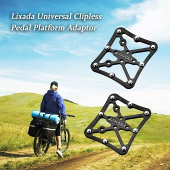 Harga Lixada 1 Pair Universal Clipless Pedal Platform Adapter for Clip-in Pedals - intl