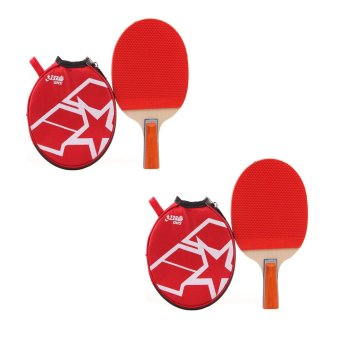 Harga DHS Lone Star A1007 Table Tennis Racket with Cover Set of 2 (Red/Black)