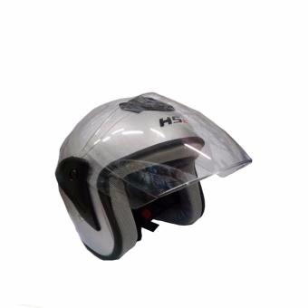 Harga Fortress HS2 Motorcycle Helmet Half Face (Grey)