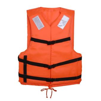 Harga Prevention Flood Adult Foam Swimming Life Vest With Reflective Strap and Whistle (Orange) - intl