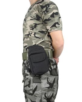 leegoal Outdoor Multifunction Tactical Molle Pouch EDC Utility Gadget Belt Waist Bag - Black - intl Price Philippines