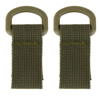 2 x Tactical Molle Hanging Belt Carabiner Hook Webbing Buckle Strap Army Green Price Philippines