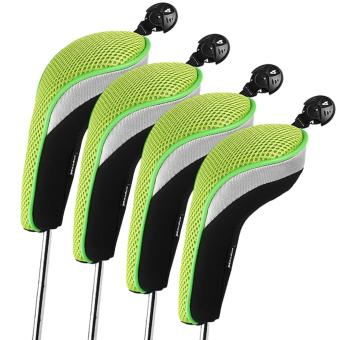 Harga Andux 4pcs/set Golf Hybrid Club Head Covers Headcovers Interchangeable Green