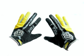 Harga Fortress Motorcycle /Bike Cycling Full Finger Gloves (Yellow)