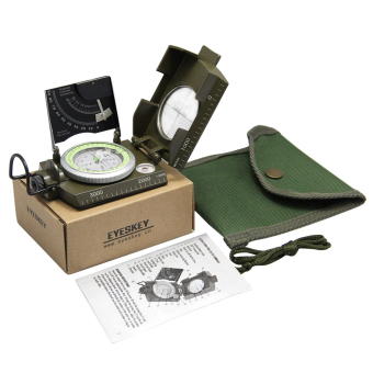 Harga Professional Military Army Sighting Luminous Compass with Inclinometer
