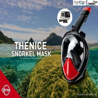 Harga Thenice Version 2 Fullface Easybreath Snorkel Diving Mask S/M