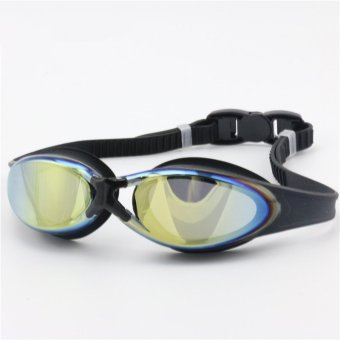 Adult Professional Racing Swimming Goggles Diving Antifog Anti-UV Waterproof HD Indoor or Outdoors Sports Glasses with Earplug Nose Clip Black Color (Intl) Price Philippines