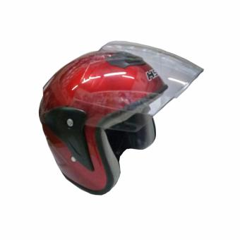 Harga Fortress HS2 Motorcycle Helmet Half Face (Red)