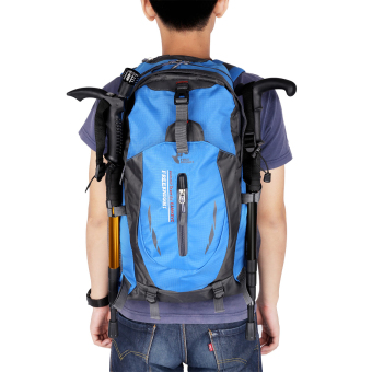 Free knight 005 Outdoor Sports Backpack Hiking Camping Waterproof Nylon Bag 40L(Blue) - Intl Price Philippines