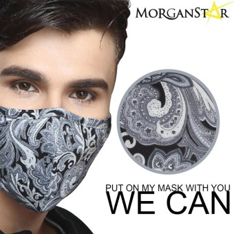Wecan 2.5 pm dustproof floral cotton face masks with activated carbon (Male) Price Philippines