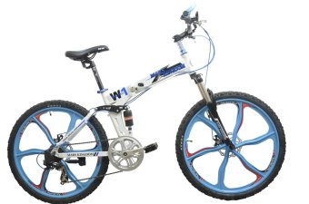 Harga Mars Kingdom W1 MK Warrior Full-suspension Mountain Bike (White)
