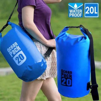 Harga 20L Waterproof Dry Bag (Royal Blue)