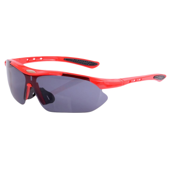 Harga EOZY Fashion Men Women Driving Outdoor Sports Polarized Sunglasses Brand Design Stylish Punk Style Unisex Eyewear Sun Glasses (Red)