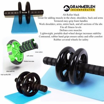 Best Selling Super Mute Double Abdomen in Wheel for Workout Exerciser (Black) Price Philippines