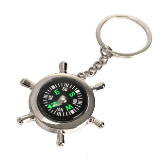 Harga Survival Wheel Ruder Compass Keychain Outdoor Camping Hiking Key Ring