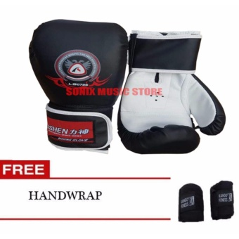 Harga Lishen Boxing Gloves 10oz Black Free Handwrap