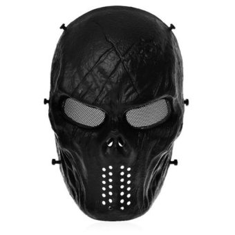 Harga DHS Airsoft Paintball Skull Face Mask - Intl