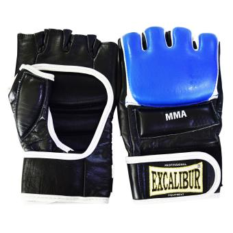 Harga Excalibur MMA Gloves Cowhide Leather Blue