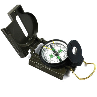Harga Mini Military Style Lensatic Compass Magnifier