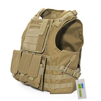 WiseBuy Combat Molle Assault Plate Military Army Airsoft Tactical SWAT Vest Nylon Brown (Intl) Price Philippines