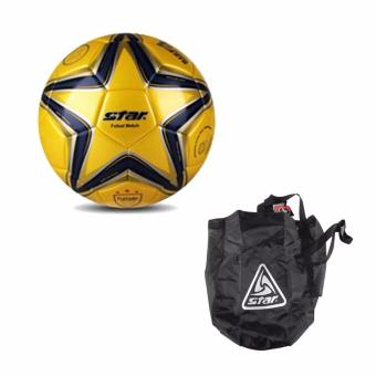 Harga Star Futsal Soccer Ball with Star Ball Bag (Black)