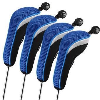 Harga Andux 4pcs/set Golf Hybrid Club Head Covers Headcovers Interchangeable Blue