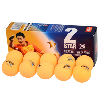 Harga DHS 1840BY 2-Star Level 10Pcs 40mm High-Quality Durable Tough Washable Celluloid Table Tennis Ping Pong Ball Suitable for Both Amateur Competition/Training and Fitness Activity Yellow - intl