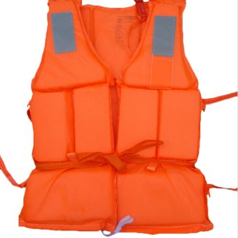 Amango Flood Foam Swimming Life Jacket Vest plus Whistle (Orange) Price Philippines