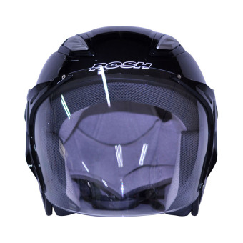 Harga Posh Open Face Titan 7 Motorcycle Helmet (Plain Black)
