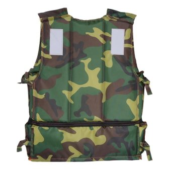 Harga Camouflage Adults Boating Swimming Life Jacket Swimming Aid Floating Foam Vest with Whistle - intl