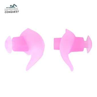 CONQUEST 2pcs Adult Children Soft Silicone Swimming Earplug (Pink) - intl Price Philippines