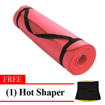 Harga Extra Thick High Density Anti-Tear Exercise Yoga Mat with Carrying Strap (Red) FREE Hot Shaper