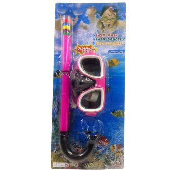 Swimming Goggles Snorkel Mask with Anti-fog Silicone Set (Pink) Price Philippines