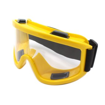 Harga Motor Craze Sport Motocross Motorcycle Goggles Safety Glasse (Yellow)