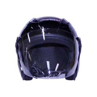 Harga Posh Open Face Titan 4 Motorcycle Helmet (Plain Black)