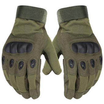 Harga Hot sale tactical gloves, outer covering finge hands of soldiers, anti-slip microfiber sports mens sports gloves - Intl