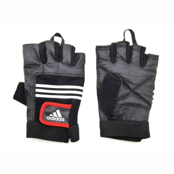 Harga Adidas Leather Lifting Gloves S/M (Black/Red)