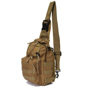 Harga Hug CAI#388 Shoulder Sling Bag Military Tactical Backpack (Khaki)